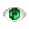Cabochon Swarovski 4775 Eye 18x10.5 mm Crystal/Green
