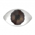 Cabochon Swarovski 4775 Eye 18x10.5 mm Crystal/Brown