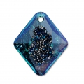 Pendentif Swarovski 6926 Growing Crystal Rhombus 26 mm Crystal Bermuda Blue