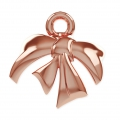 Attache Metal Bow pour perles Swarovski 5818/5810/5028/5003 10 mm doré rose