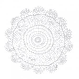 Napperon crochet dentelle 30 cm blanc x1 perles co - Napperon dentelle crochet ...