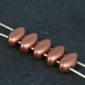 Perles en verre 2 trous IrisDuo 4x7 mm Red Copper Mat x25