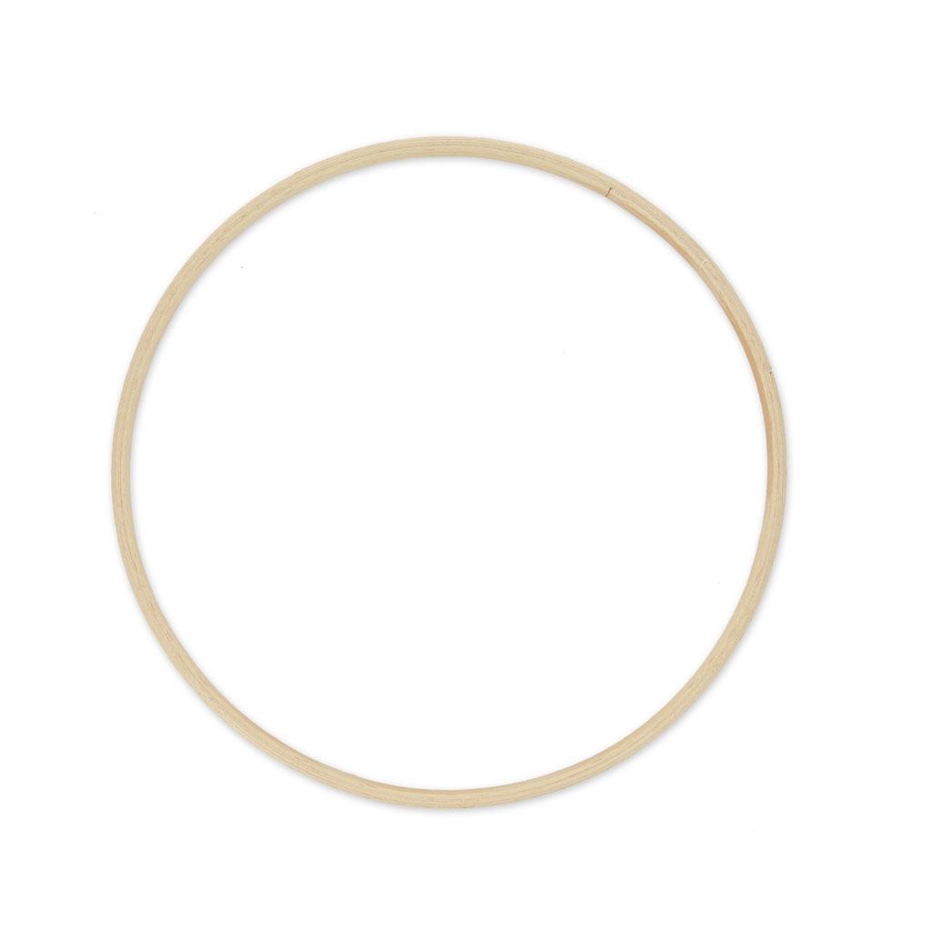 Cercle en bois de h tre pour attrape r ve et d coration 20 - Cercle pour attrape reve ...