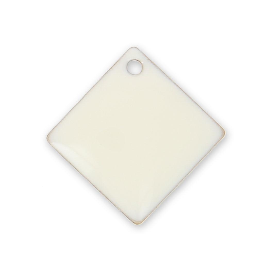 sequins losanges carr s en m tal et r sine poxy 16x16 mm blanc x perles co. Black Bedroom Furniture Sets. Home Design Ideas
