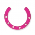 Demi-Lune Strass Polaris 30 mm Fuchsia x1