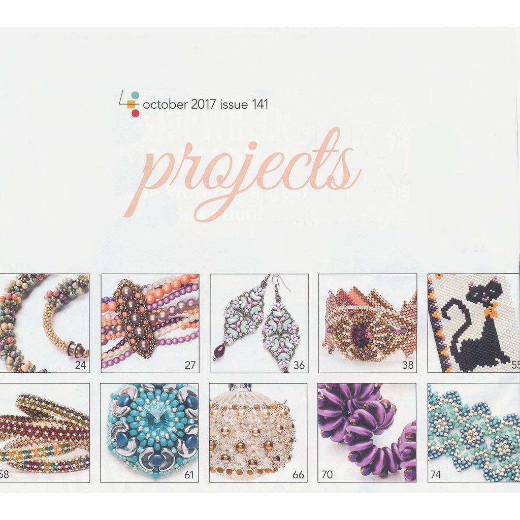 magazine bead button octobre 2017 en anglais perles co. Black Bedroom Furniture Sets. Home Design Ideas