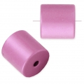 Perle cylindre en aluminium anodisé 10 mm Light Rose x1