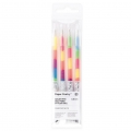 4 Stylos Gel Paper Poetry 0.8 mm - Rainbow Neon