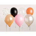 12 ballons de baudruche pour décoration festive Yey - Let's Party Mix Halx1