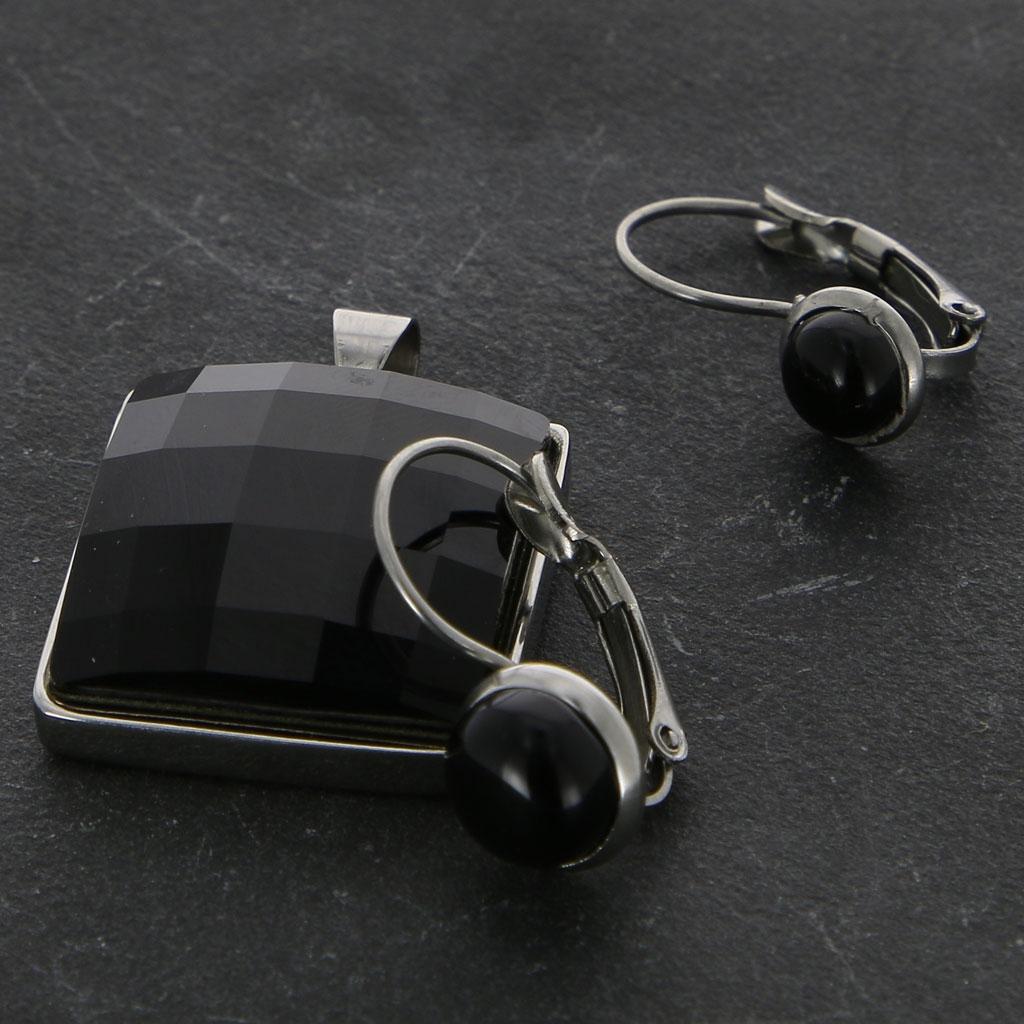 Boucles d 39 oreilles dormeuses pour cabochon 6 mm en acier inox x2 - Creer ses boucles d oreilles ...