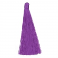 Grand Pompon textile sans attache 120 mm pour déco ou bijoux Purple