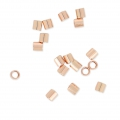 Tubes à écraser 2x2 mm Rose Gold filled 14 carats x50