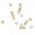 Tubes à écraser 2x2 mm Gold filled x50