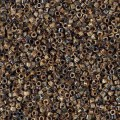 Miyuki Delicas 11/0 DB2267 - Opaque Brown Picasso x 8g