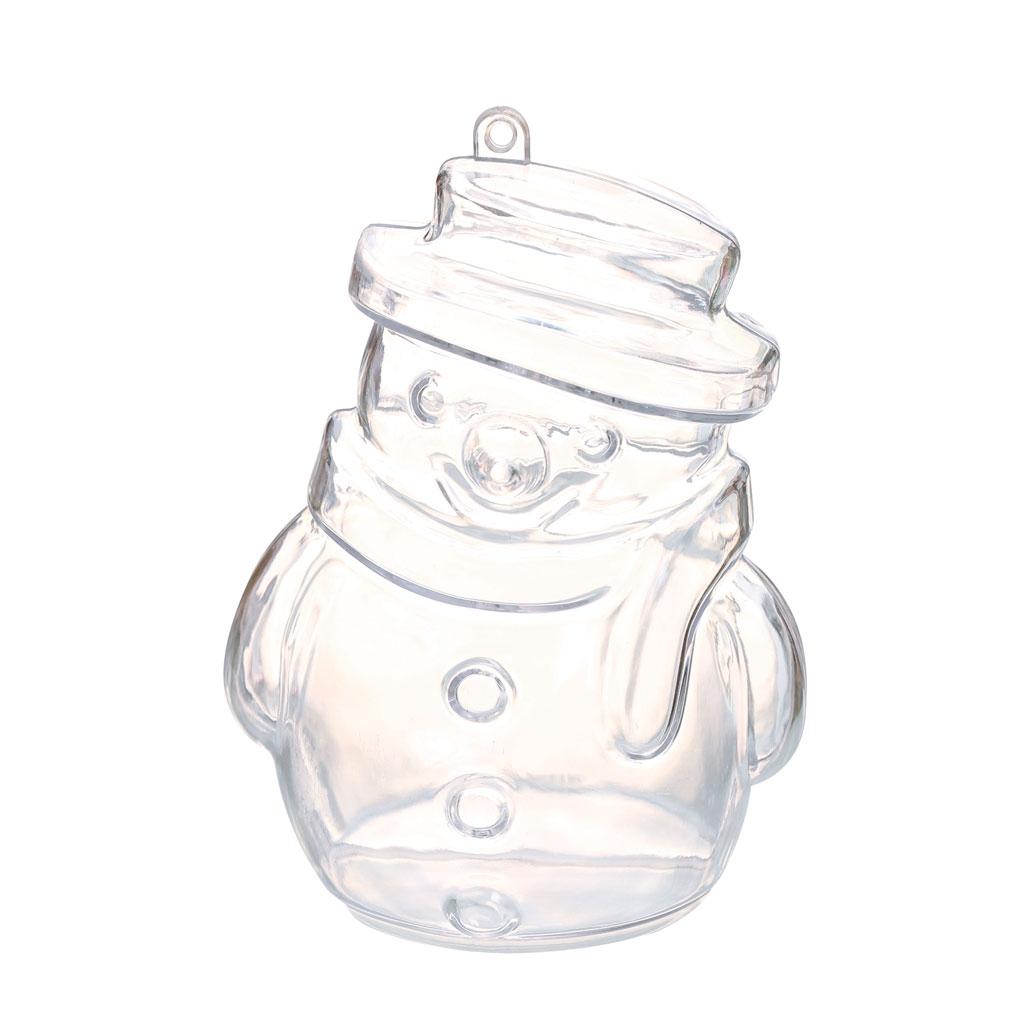 Boule De Noel Transparente A Decorer tout boule de noël transparente à garnir 100 mm - bonhomme de neige x1