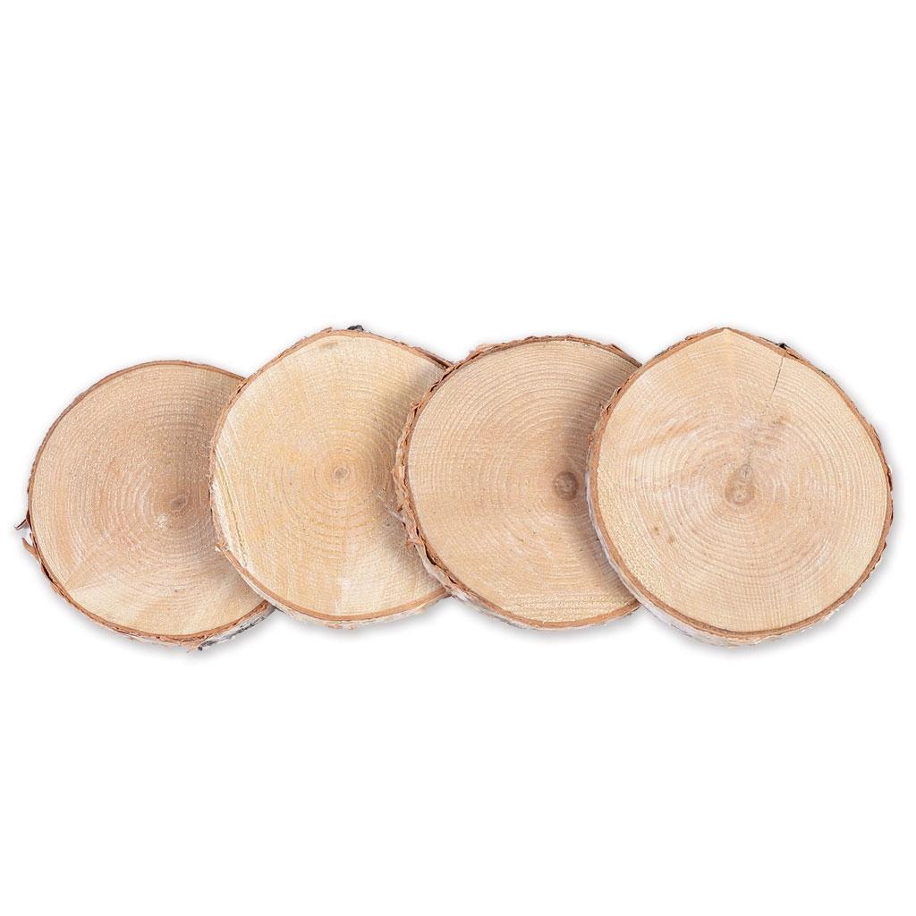 4 rondelles de bois brut 70 100 mm pour la d coration diy arte perles co. Black Bedroom Furniture Sets. Home Design Ideas