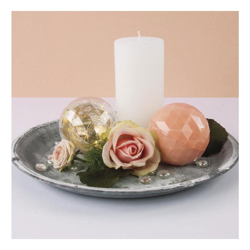 Boule De Noel Transparente A Decorer destiné boule de noël transparente à garnir 80 mm facettée x1 - perles & co