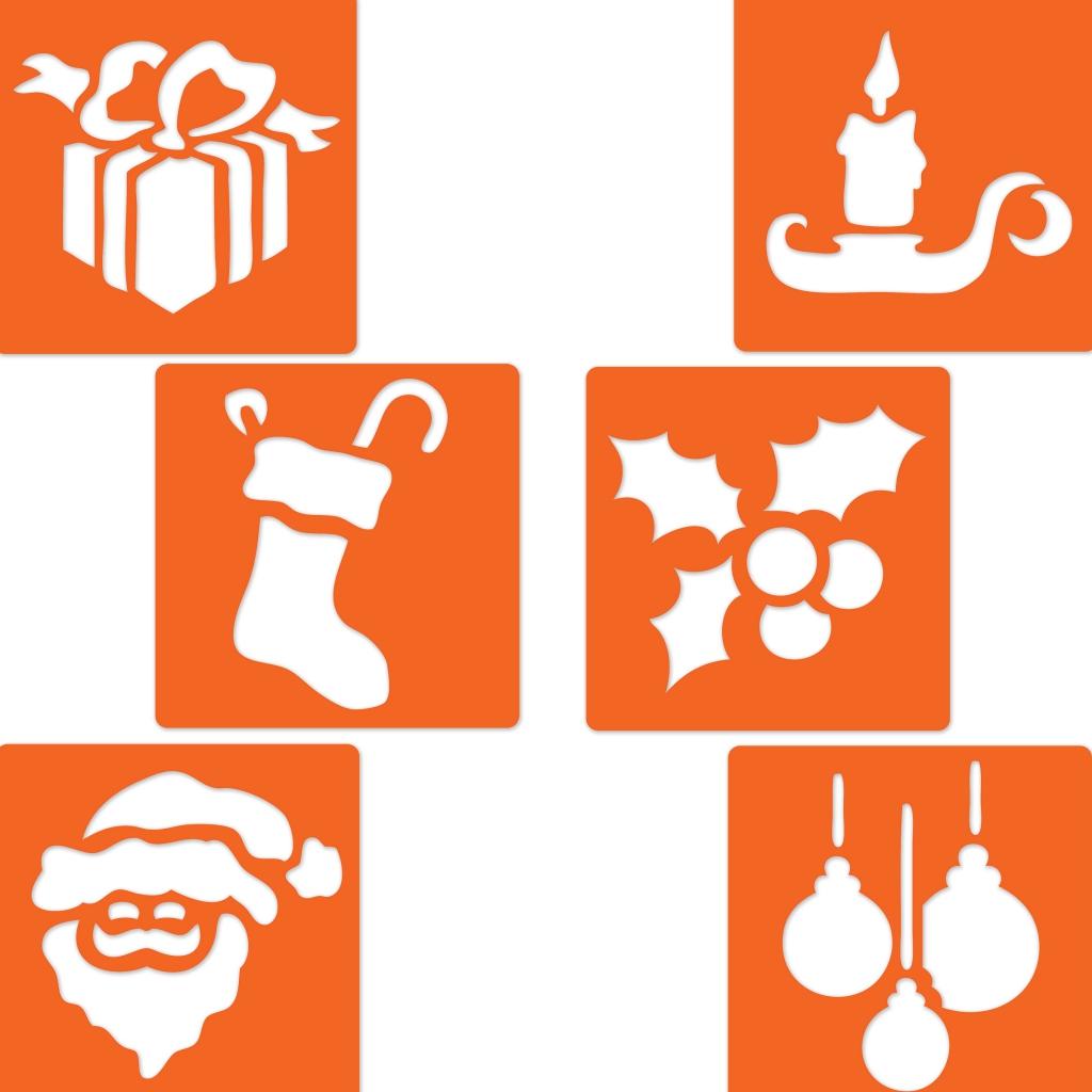 Pochoirs En Plastique Pour Enfants 145x145 Cm Noël 2 X6 Perles Co