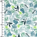Tissu coton Daily Like - In the tropics leaf  - Tropical x10cm