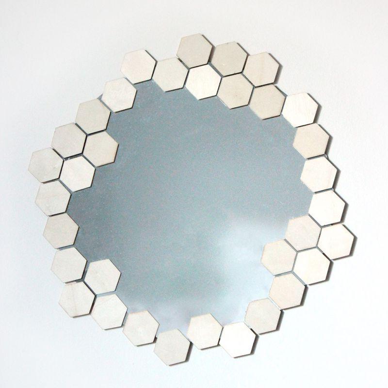 miroir en verre rond personnaliser 30 cm perles co