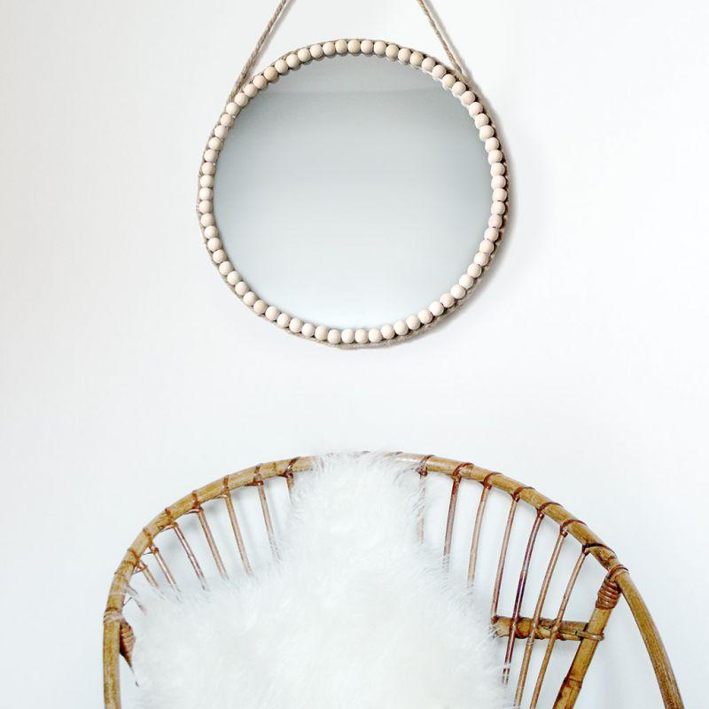 miroir en verre rond personnaliser 18 cm perles co. Black Bedroom Furniture Sets. Home Design Ideas