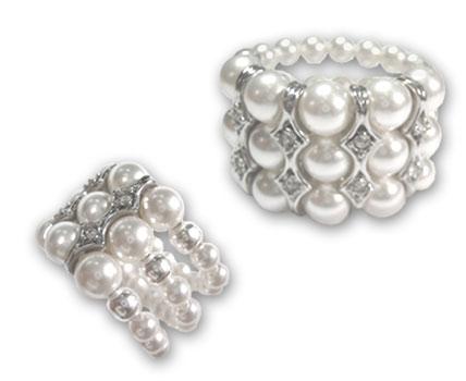 bague perle nacre