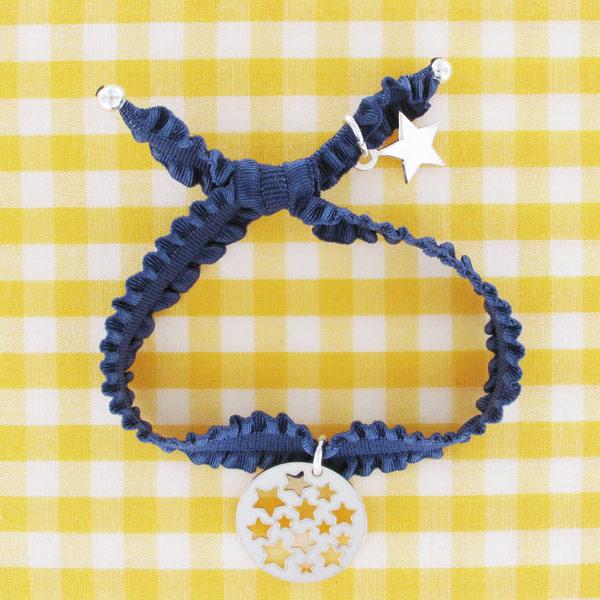 Bracelet froufrou ruban lastique et sequin toiles perles co - Bracelet perle et ruban ...