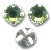 Strass à coudre 6 mm Peridot x5