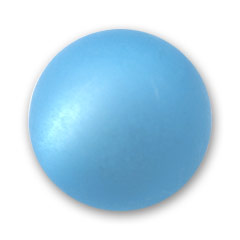 Perle ronde Polaris 20 mm Aquamarine x1