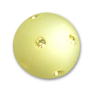 Perle ronde strass Polaris 14 mm Jonquil x1