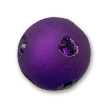 Perle ronde strass Polaris  8 mm Purple Velvet x1