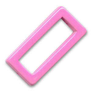 Rectangle évidé 38x18 mm Hot Pink x1