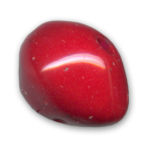 Ronde aplatie 26x19 mm Dark Red Coral x1