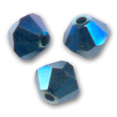 Toupies en cristal Swarovski 4 mm Crystal Metallic Blue 2X x50
