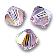 Toupies en cristal Swarovski 4 mm Light Amethyst AB x50