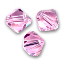 Toupies en cristal Swarovski 3 mm Light Rose  x50