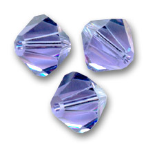 Toupies en cristal Swarovski 6 mm Tanzanite  x20